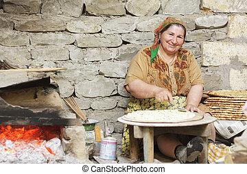 빵집, 여자
