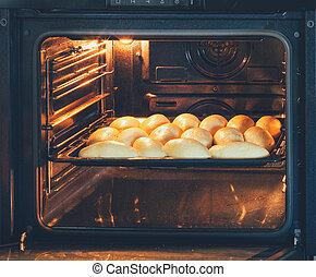 빵 굽기, 각오가 되어 있는, 파이, 서류 작성, 가정, 전기, 오븐