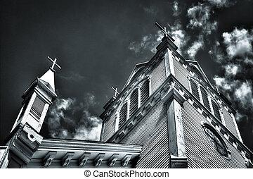 뾰족탑, 교회