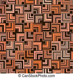 사각형, 패턴, 떼어내다, angle., seamless, 오렌지