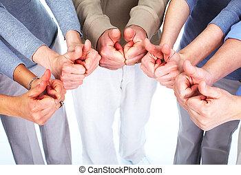 사람의 그룹, hands.
