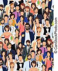 사람의 그룹, seamless, 패턴
