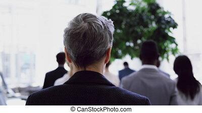 사람 걷, 사업, 로비, 4k, 사무실