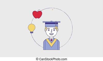 사람, 교육, 눈금, 온라인의