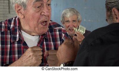 사람, 늙은, 주먹, 싸움