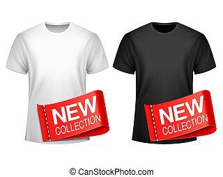 사람, 티셔츠, 새로운, 수집