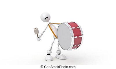 사람, drum., 3차원