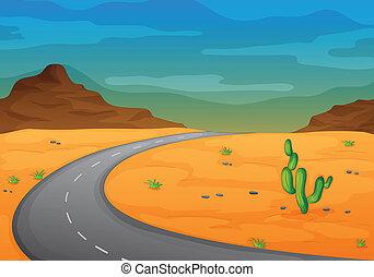 사막, 길