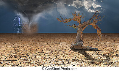 사막, 폭풍우, rages