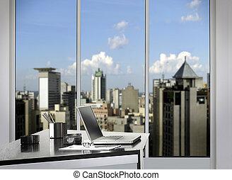 사무실, 와, 창문