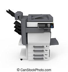 사무실, multifunction, 인쇄기