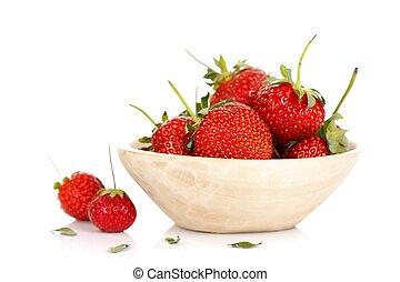 사발, 와, 딸기
