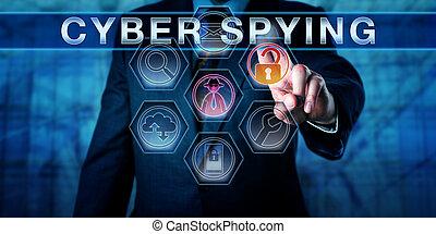 사업가, 미는 것, cyber, 감시