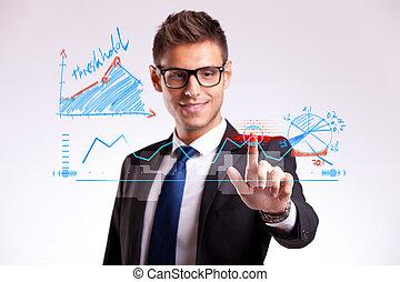 사업가, 제작, a, 선, 선택