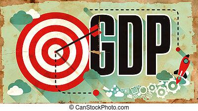 사업 개념, gdp, 통하고 있는, grunge, poster.