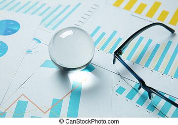 사업, 그래프, 미리 계획하다, 결정, 솟는, 공