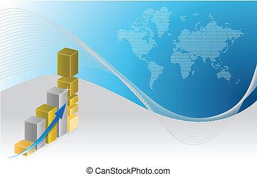 사업, 그래프, 삽화, 디자인