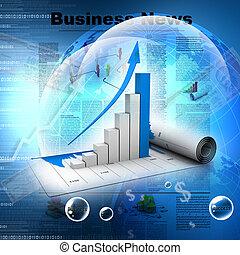 사업, 그래프, 에서, 디지털 디자인