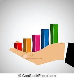 사업, 그래프, 에서, 손