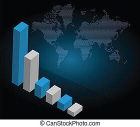 사업, 그래프, 와, 세계