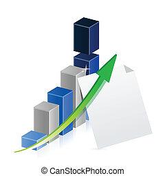 사업, 그래프, 와..., 종이