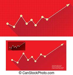 사업, 그래프, 와..., chart., 벡터, 삽화