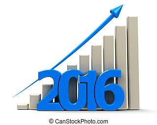 사업, 그래프, 위로의, 2016
