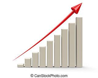 사업, 그래프, 위로의, #3