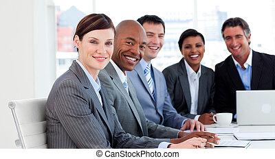 사업, 그룹, 전시, 소수민족의 부동, 에서, a, 특수한 모임