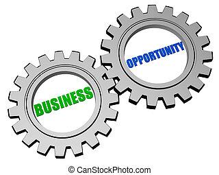 사업 기회, 에서, 은, 회색, 은 설치한다