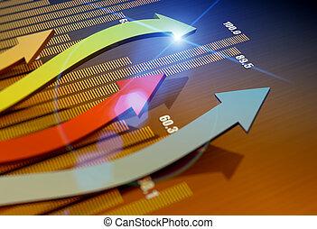 사업, 시장, 도표