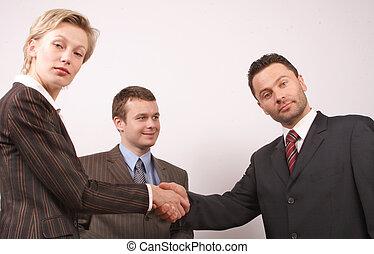 사업, 악수 2