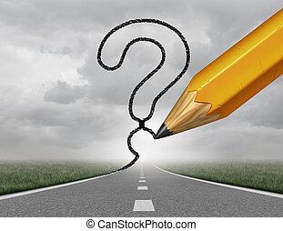 사업, 좁은 길, 질문