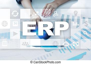 사업, concept., 계획, 기업, 기술, 자원