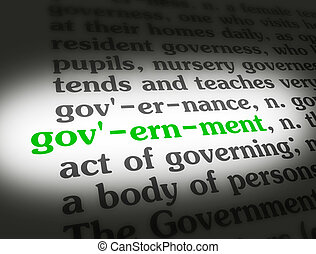 사전, 정부