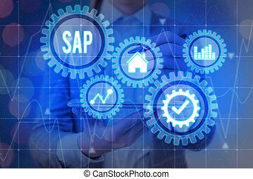 사진, 기업, 표시, 자원, 계획, 과정, 개념, erp, sap., 체계, 인조의,...
