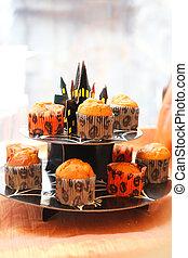 사진, halloween, 컵케이크