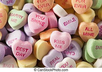 사탕, 대화, 심혼, 치고는, 발렌타인 데이