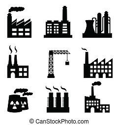 산업의, 건물
