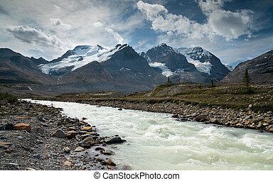 산, 국립 공원, 캐나다, alberta, 바위가 많은, 벽옥