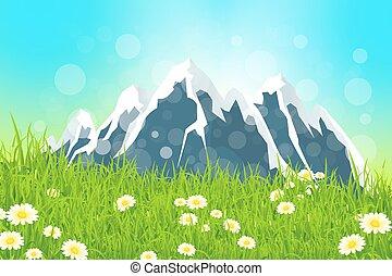 산, 녹색의 풍경