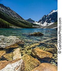 산 호수, 에서, 여름