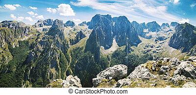 산, montenegro, 국립 공원, prokletije, 파노라마