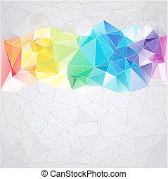삼각형, 스타일, 떼어내다, 배경, 삼각형