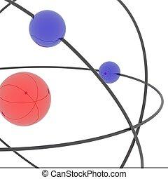 삽화가 든, 원자