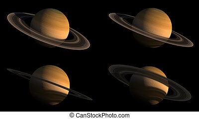 삽화, 세트, 행성, 토성