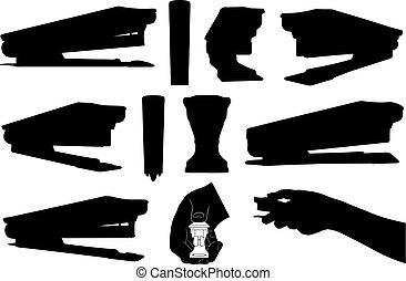 삽화, 의, 다른, staplers