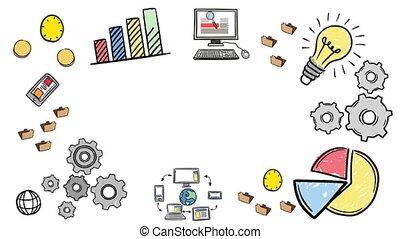 삽화, 의, 사업 개념
