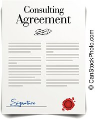 상담하는, 동의, 협정, 계약