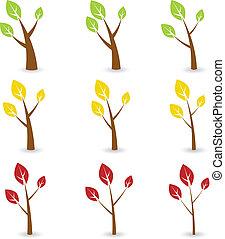 상징, 벡터, 나무